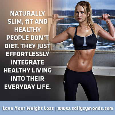 naturally slim fit and healthy people
