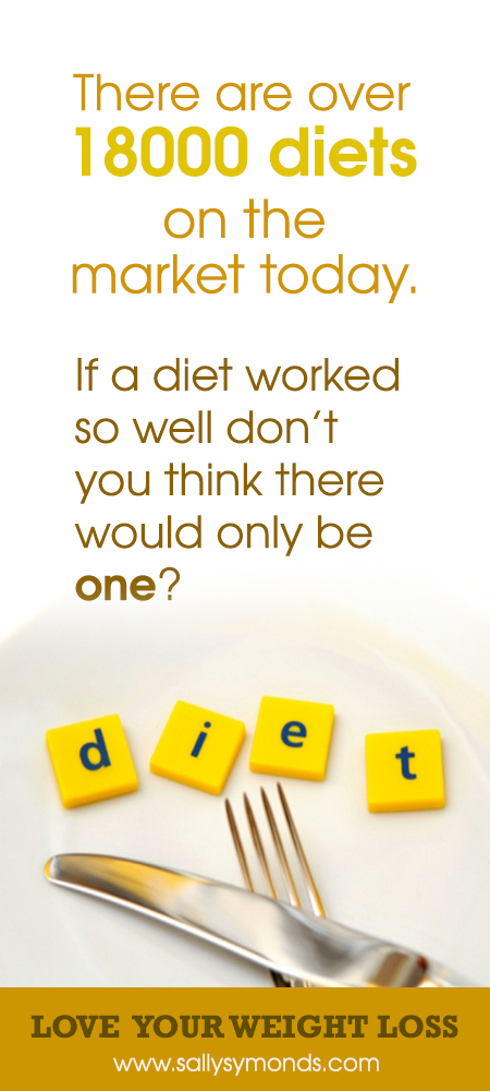 There are over 18000 diets on the market today If a Diet worked so well dont you think there would only be one - are you serious about losing weight?