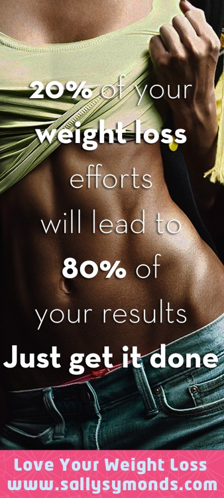 20% of your weight loss efforts