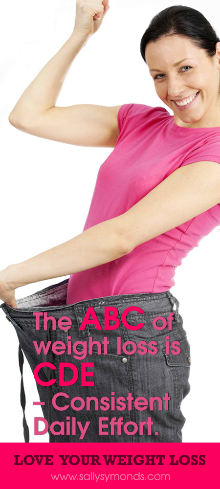 The ABC of weight loss is CDE – Consistent Daily Effort.