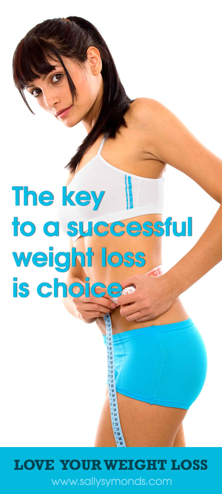 The key to a successful weight loss is choice 2