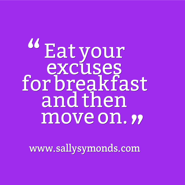 eat your excuses - purple
