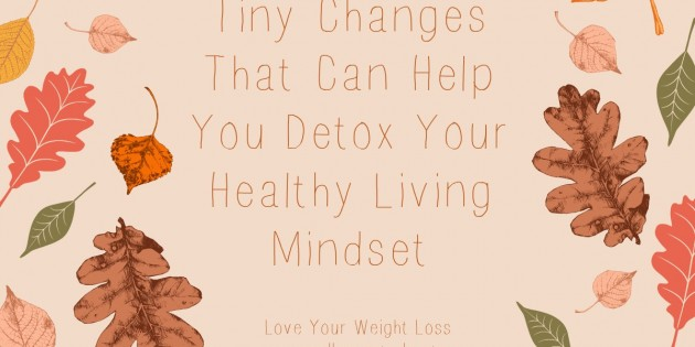 Tiny Changes That Can Help You Detox Your Healthy Living Mindset Today